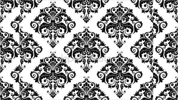 Simple Damask Pattern Design