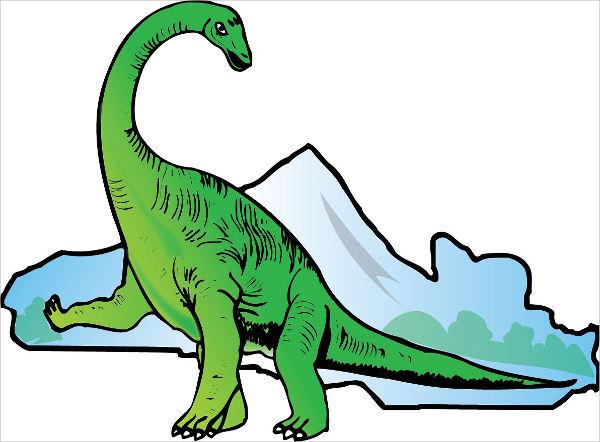 Simple Dinosaur Clip Art