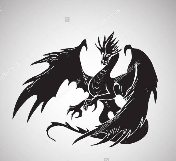 Simple Dragon Silhouette