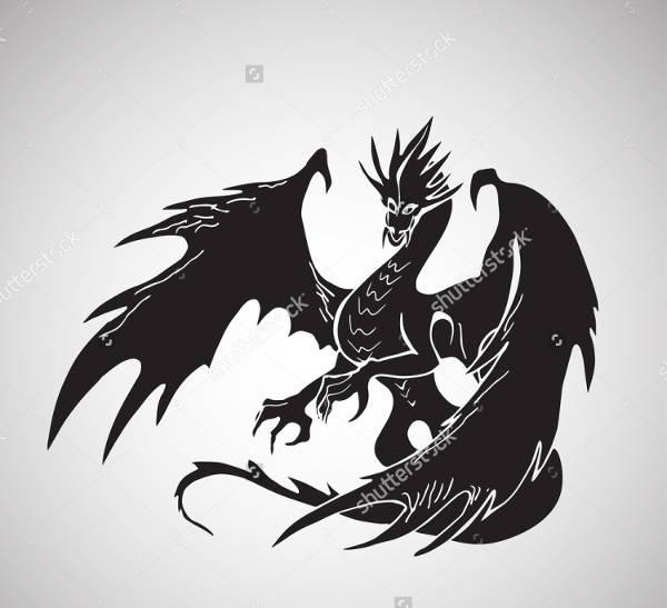 simple dragon silhouette