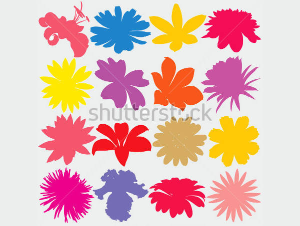 Simple Flower Silhouettes
