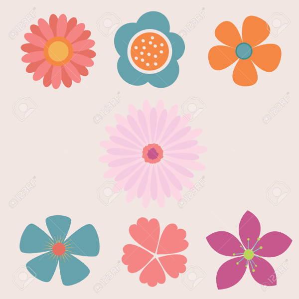 8  flower vectors