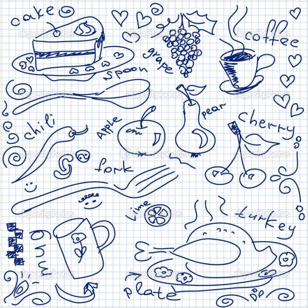 Simple Food Drawing