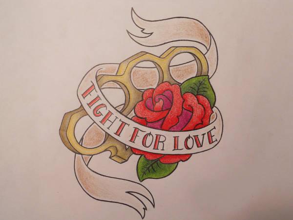 simple love tattoo