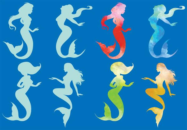 Simple Mermaid Silhouette