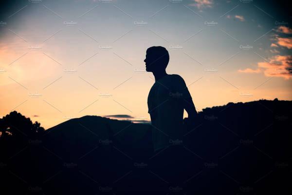 Simple Mountain Silhouette