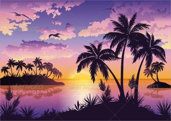 Simple Palm Tree Silhouette