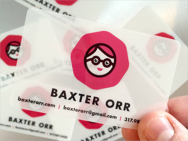 Simple Plastic Business Card