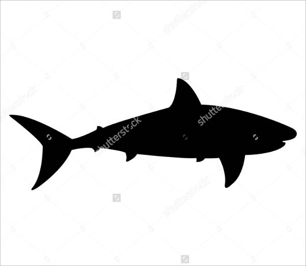 Simple Shark Silhouette