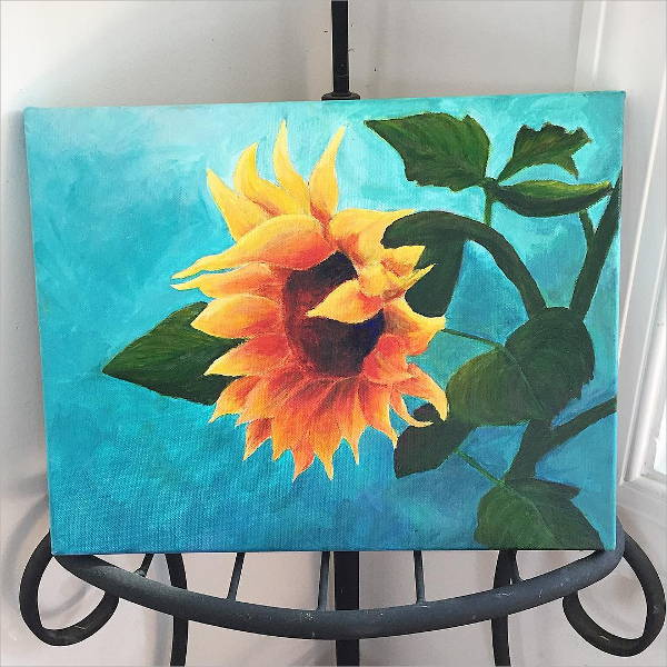 Simple Sunflower Painting