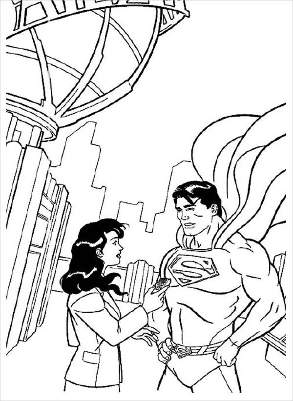 Simple Superman Coloring Page