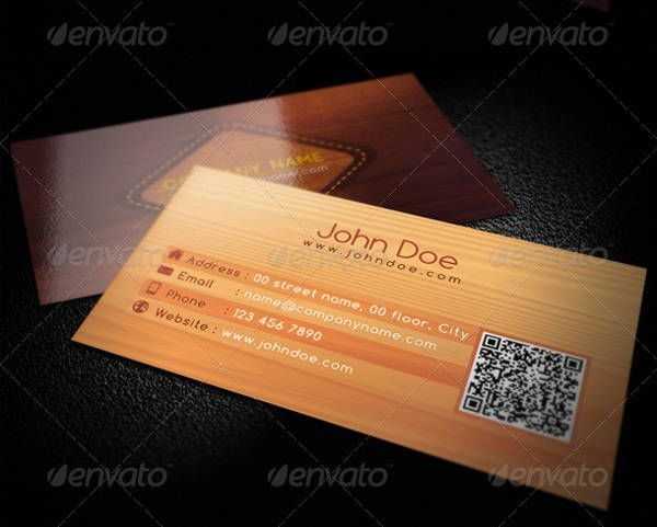 Simple Wooden Business Card