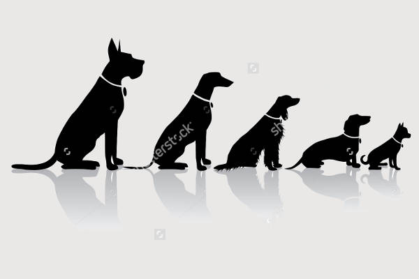 sitting dog silhouette