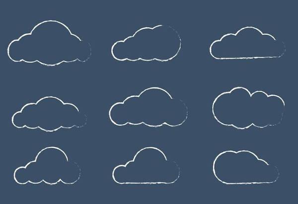 Sketchy Cloud Vector