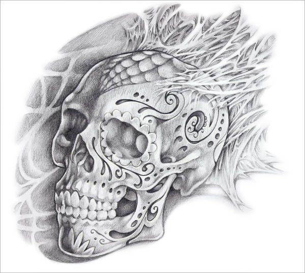 Skull Candy Tattoo Design