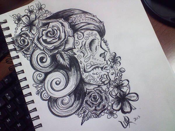 Skull Design Drawing