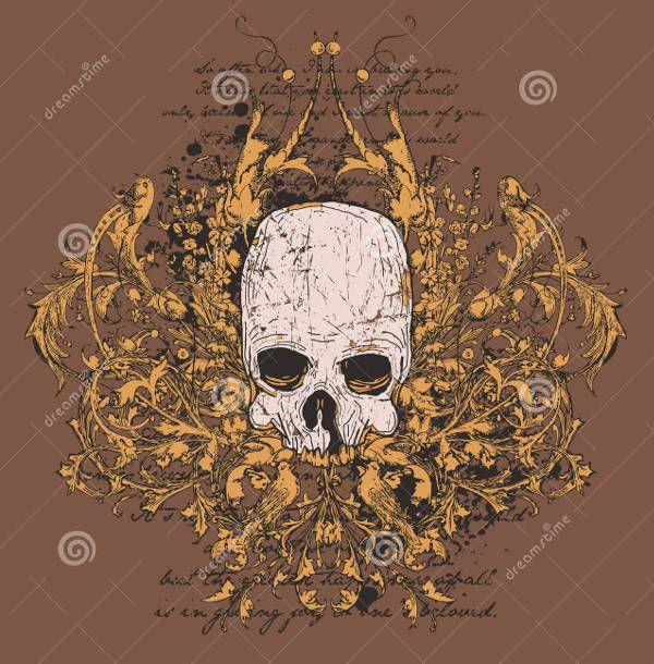 Skull Design for Tattoo