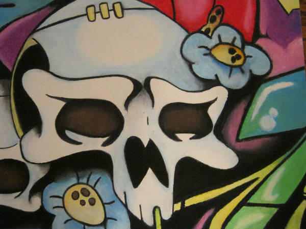 Skull Graffiti Drawing