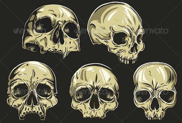 Skull Side Vector