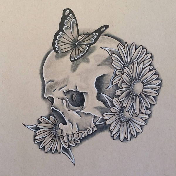 Skull Tattoo Drawing