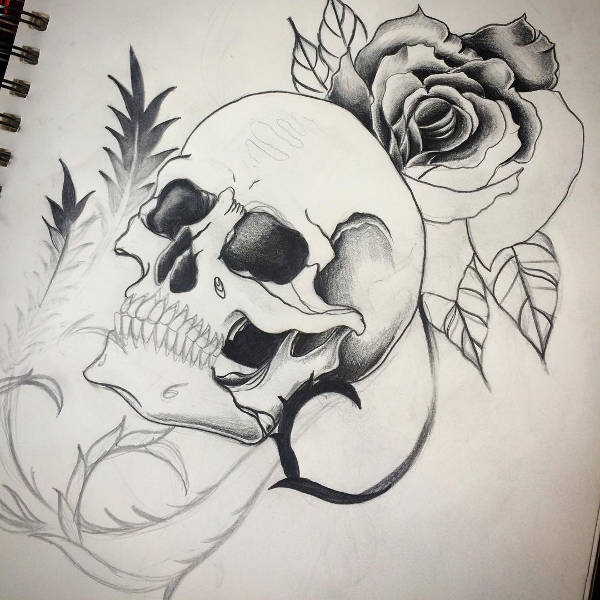 Skull Tattoos Drawing
