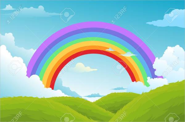 Sky Rainbow Vector