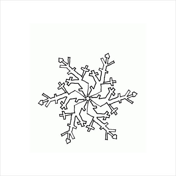 small snowflake coloring page