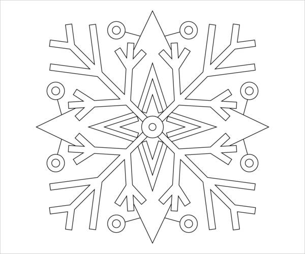 8+ Snowflake Coloring Pages - JPG, Ai Illustrator Download