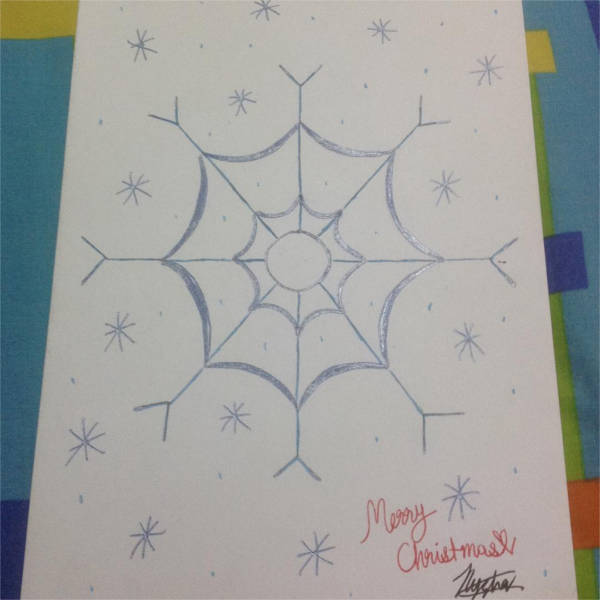 Snowflake Outline Drawing