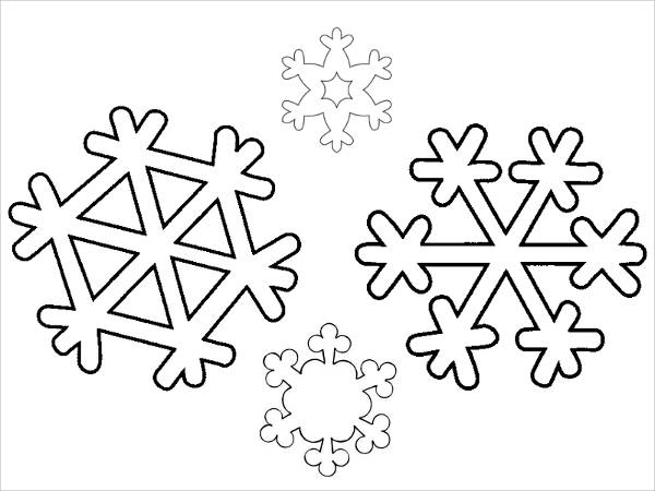 snowflake winter coloring page