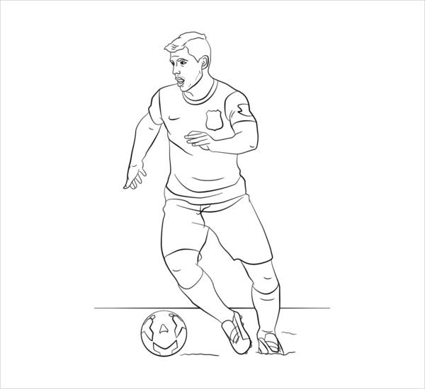 Soccer Coloring Page for Boys