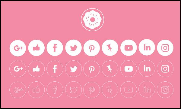 Social Minimal Icons