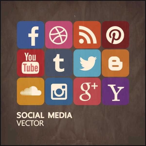 social vector icons2