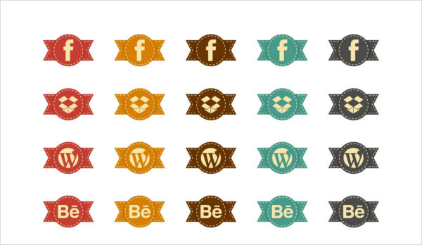 Social Vintage Icons