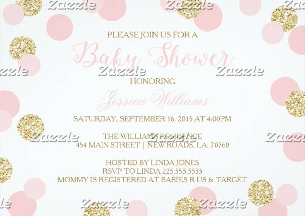 Sparkle Baby Shower Invitation