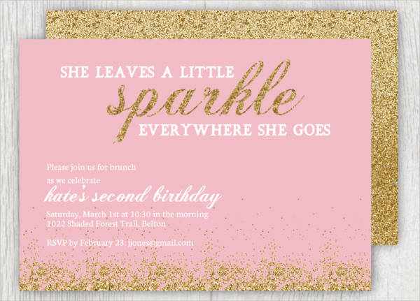 Sparkle Birthday Invitation