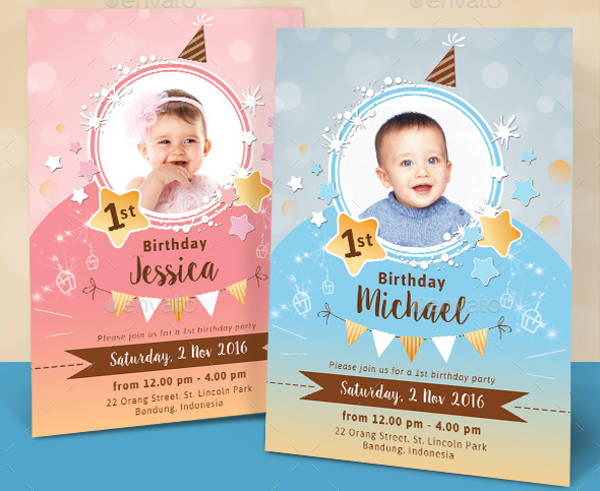 Sparkle Photo Invitation