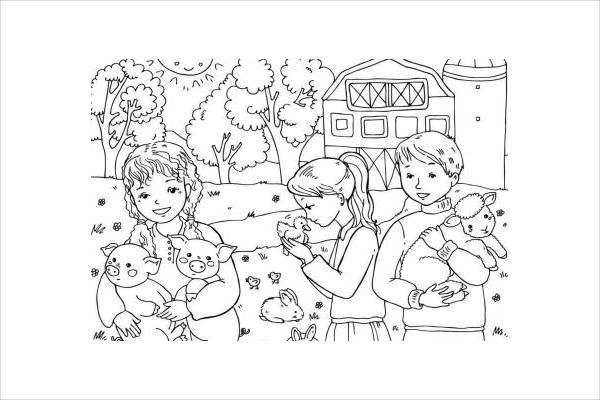 10 Spring Coloring Pages JPG