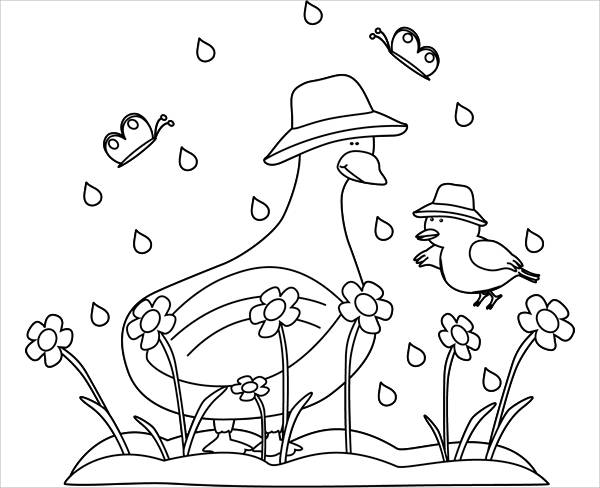 Spring Black and White Clip Art
