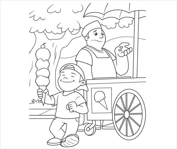 spring coloring page for kids1