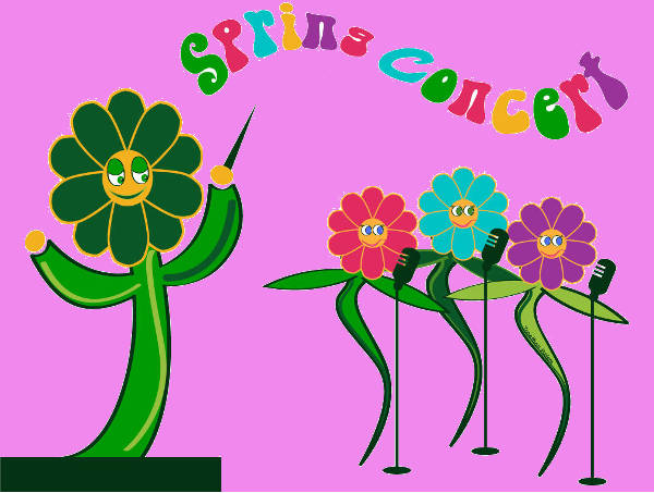 Spring Music Clipart