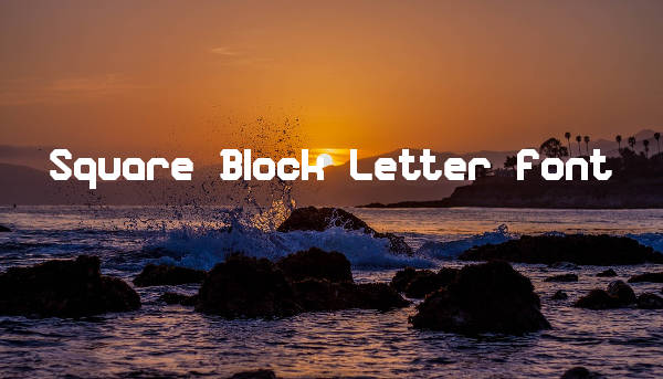 Square Block Letter Font