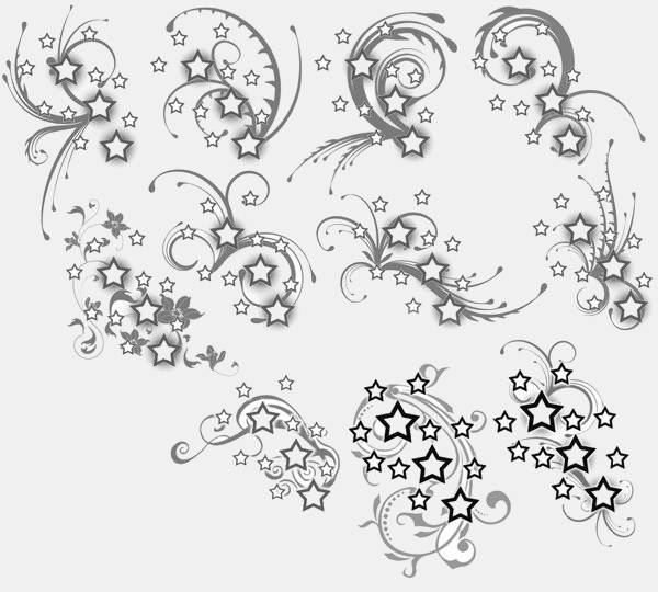 Stars & Swirl Tattoo Design