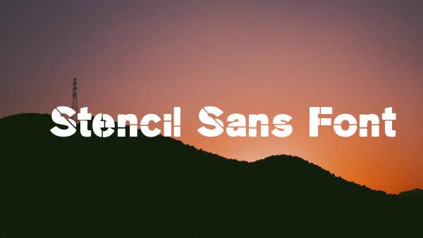 Stencil Sans Font