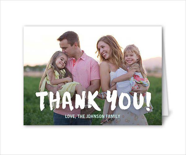 Stylish Personalized Thank You Card