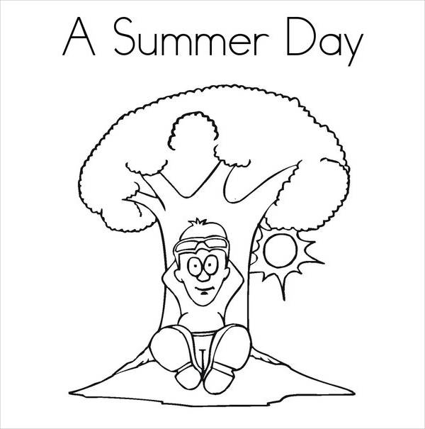 Summer Day Coloring Page