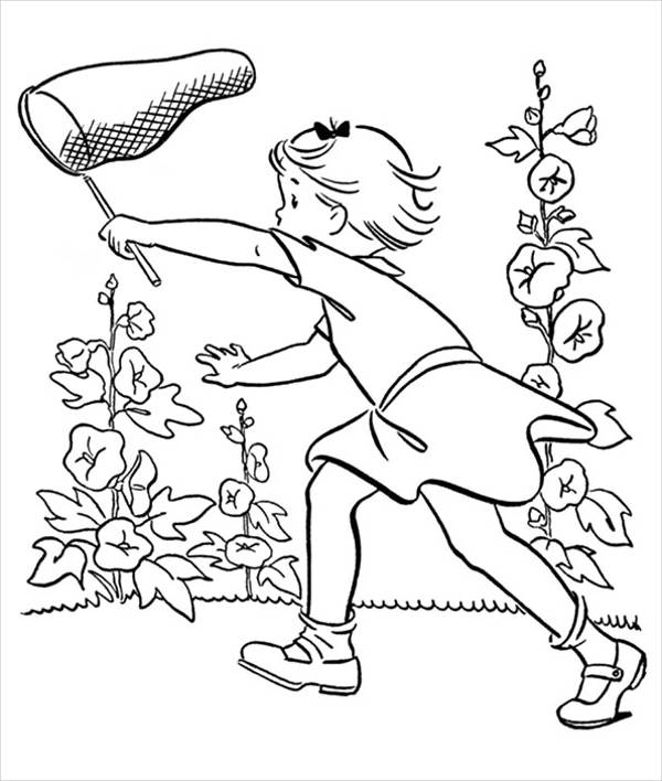 Summer Flower Coloring Page