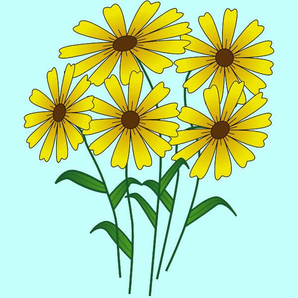 Summer Flowers Clip Art