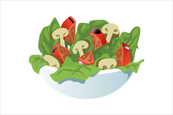 Summer Food Salad Clipart