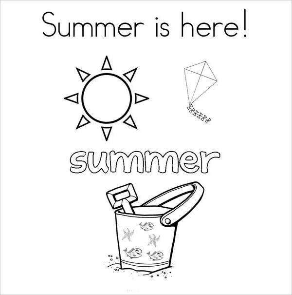 Summer Season Coloring Page